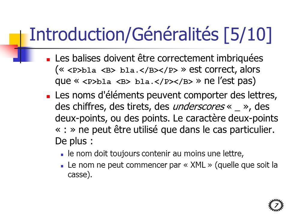 Introduction/Généralités [5/10]
